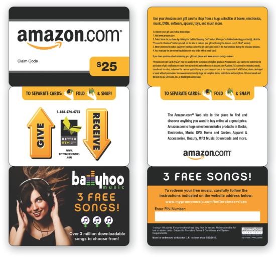 Karta podarunkowa Amazon o wartości 25 USD